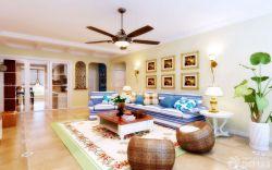地中海風格家庭客廳照片墻圖片