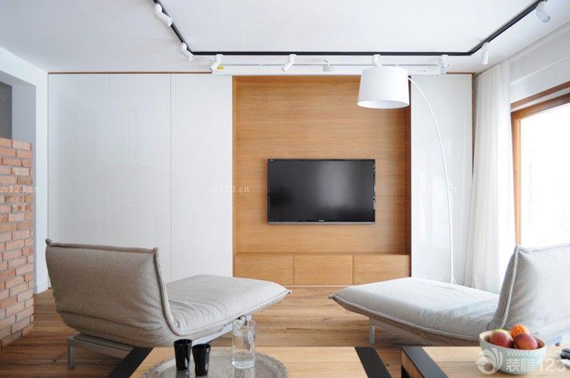北欧风格电视背景墙隐形门装修效果图