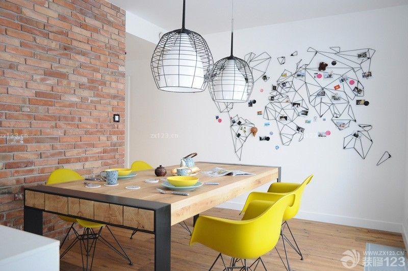 北欧风格餐厅墙面装饰效果图图片