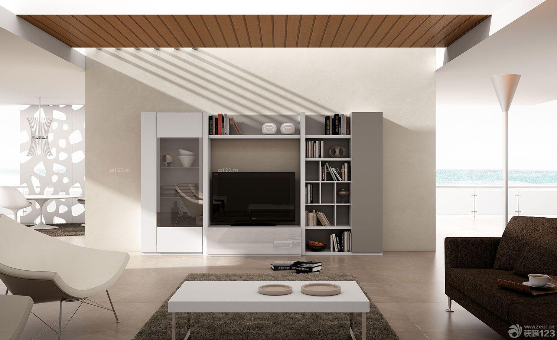 经典现代风格电视柜背景墙装修图片