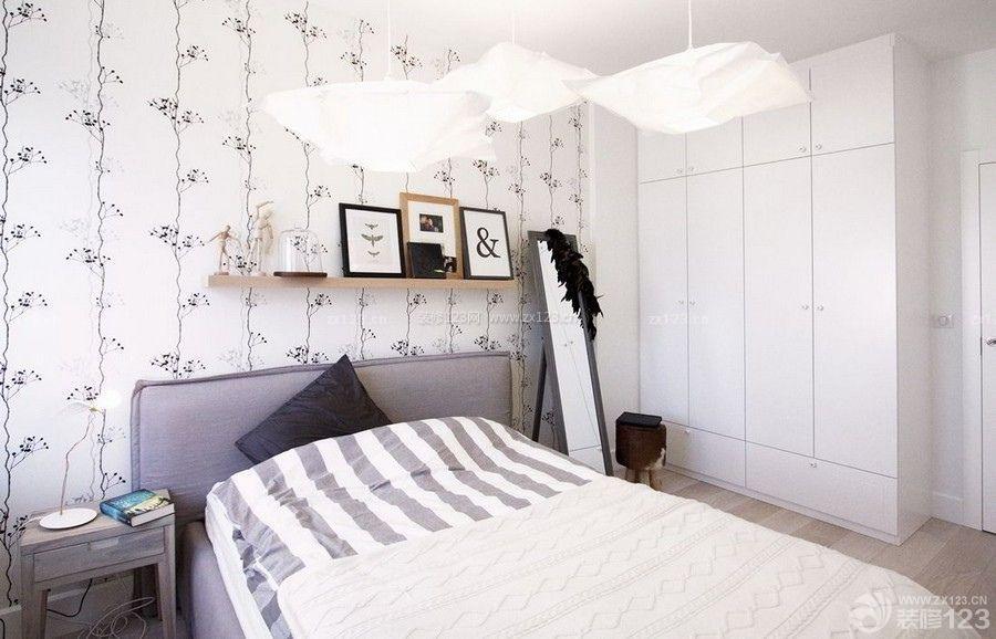 北欧风格主卧室衣柜效果图