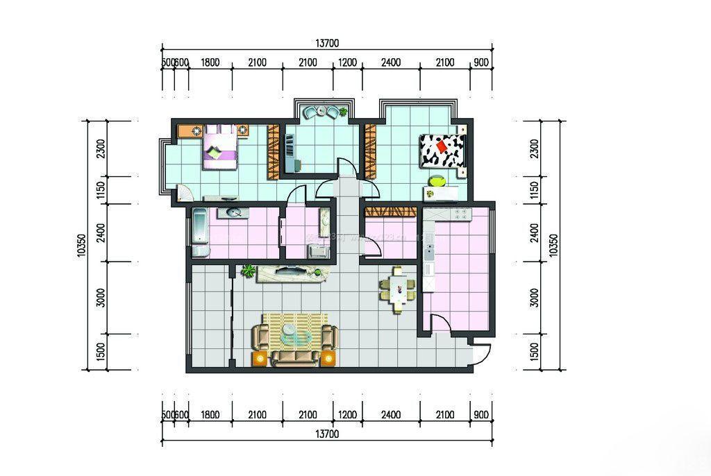 三室一厅户型图