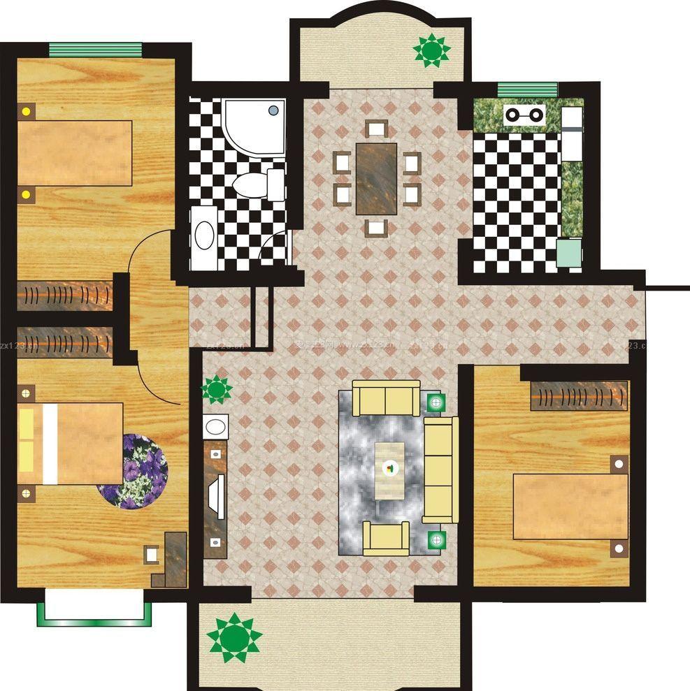 图_农村120平方房子设计图_三室一厅设计平面图_农村三房一厅地基图纸
