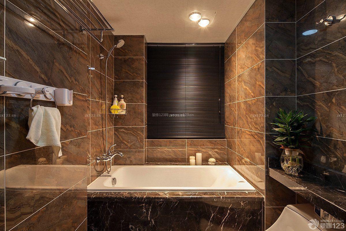 现代美式家居浴室装修效果图