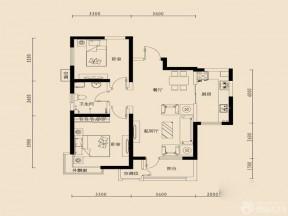 兩室兩廳平面圖