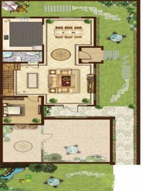 豪华别墅平面图