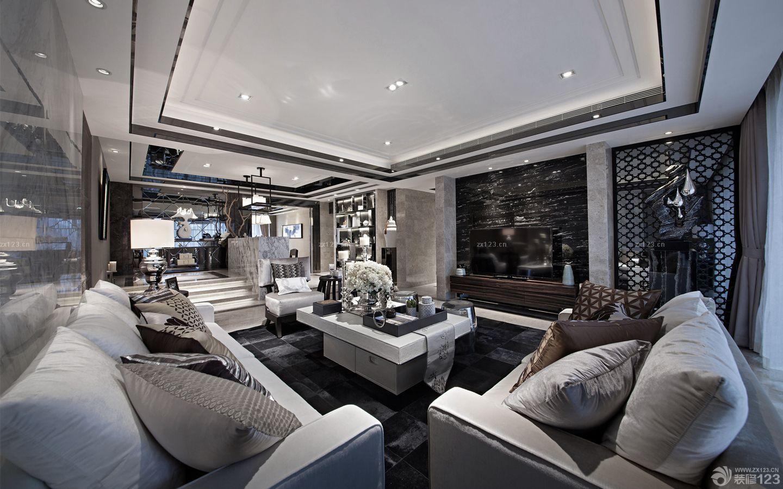 精品现代风格客厅吊顶设计效果图欣赏