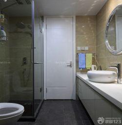 家裝衛生間玻璃隔斷效果圖片