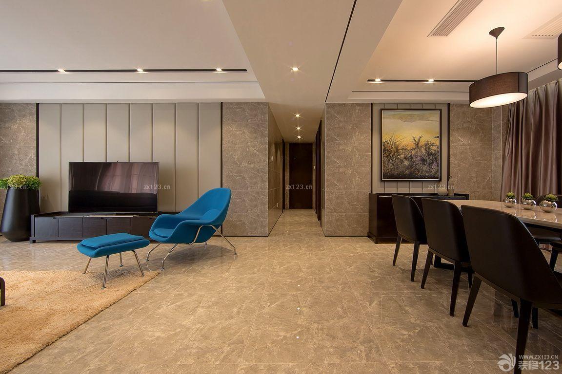 家装客厅6平米电视背景墙设计效果图_装修123效果图