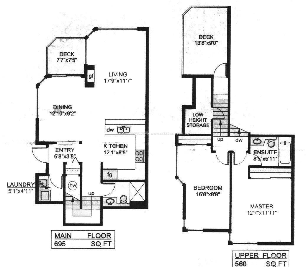 独栋两层别墅平面图