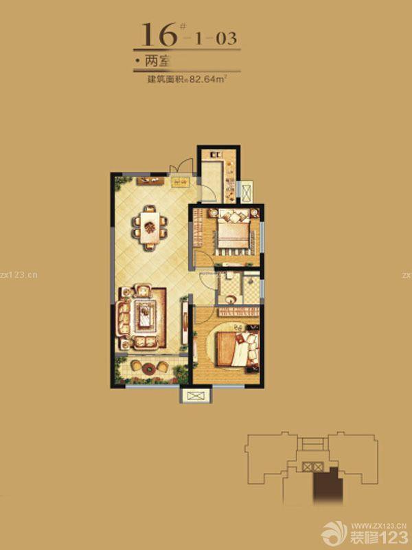 110平米房子三室一厅室内客厅窗帘装饰实景图