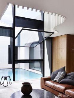 經典客廳玻璃隔斷設計圖