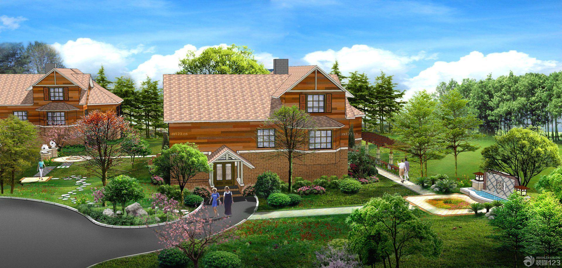 东南亚风格别墅庭院装修图片