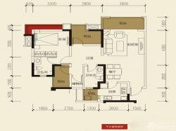 家庭新房三室兩廳兩衛平面圖片
