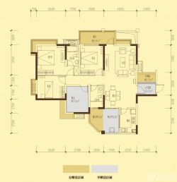 2015家庭三室兩廳兩衛平面圖