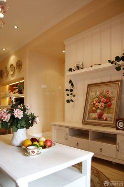 50平兩室一廳田園風格裝飾畫裝修效果圖片