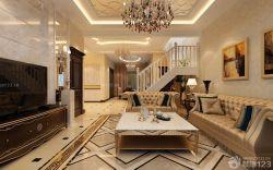 室內客廳新古典家具擺放圖片