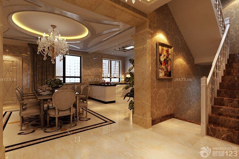 中式混搭风格饭店大厅装修图片