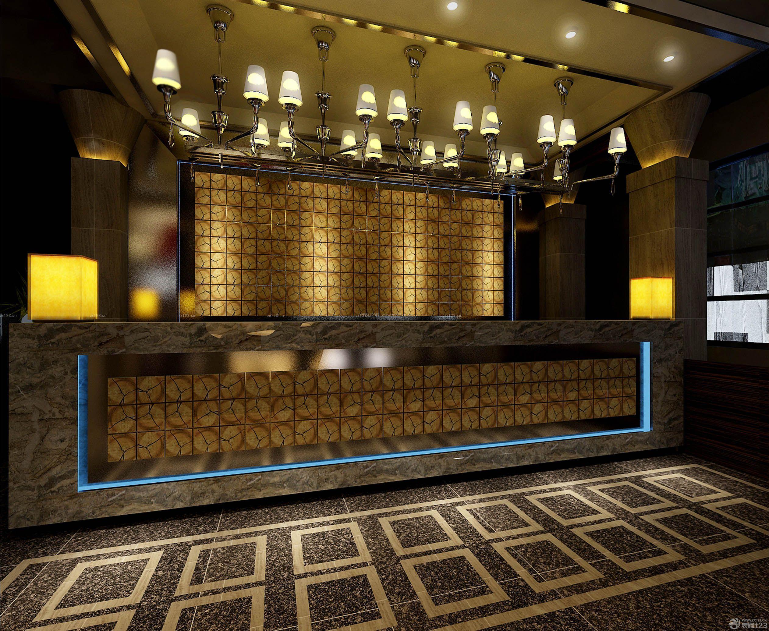 饭店吧台装修效果图片