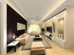 家裝長方形客廳設計樣板房