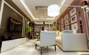 家裝設計樣板房 客廳天花板吊頂