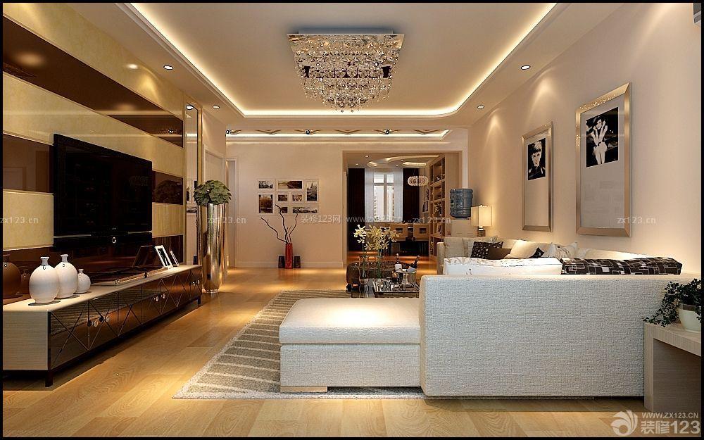 95平房屋客厅天花板吊顶装修效果图