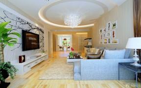新房裝修樣板房 客廳天花板吊頂