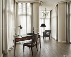 書房簡約書桌設計效果圖片