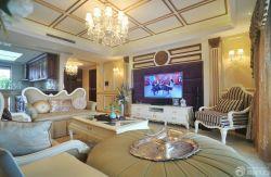 新古典風格家庭客廳家具布置效果圖片