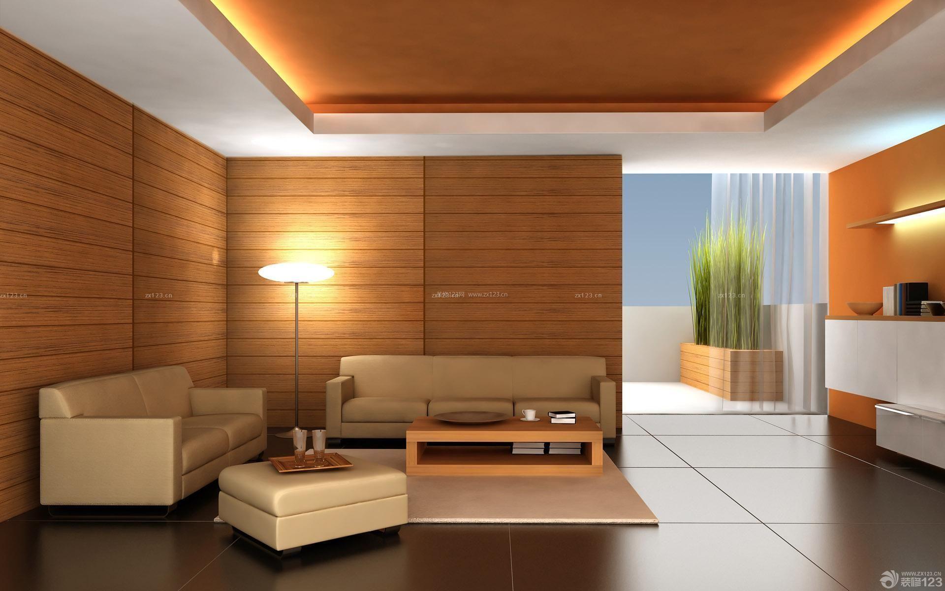 木质沙发背景墙面装修效果图
