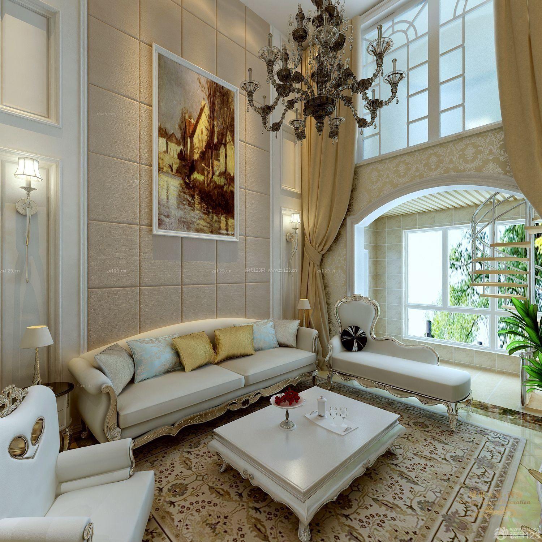 房屋客厅石膏板墙面装修案例