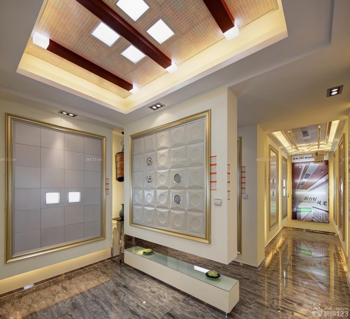 90平米三室一厅客厅集成吊顶灯装修效果图
