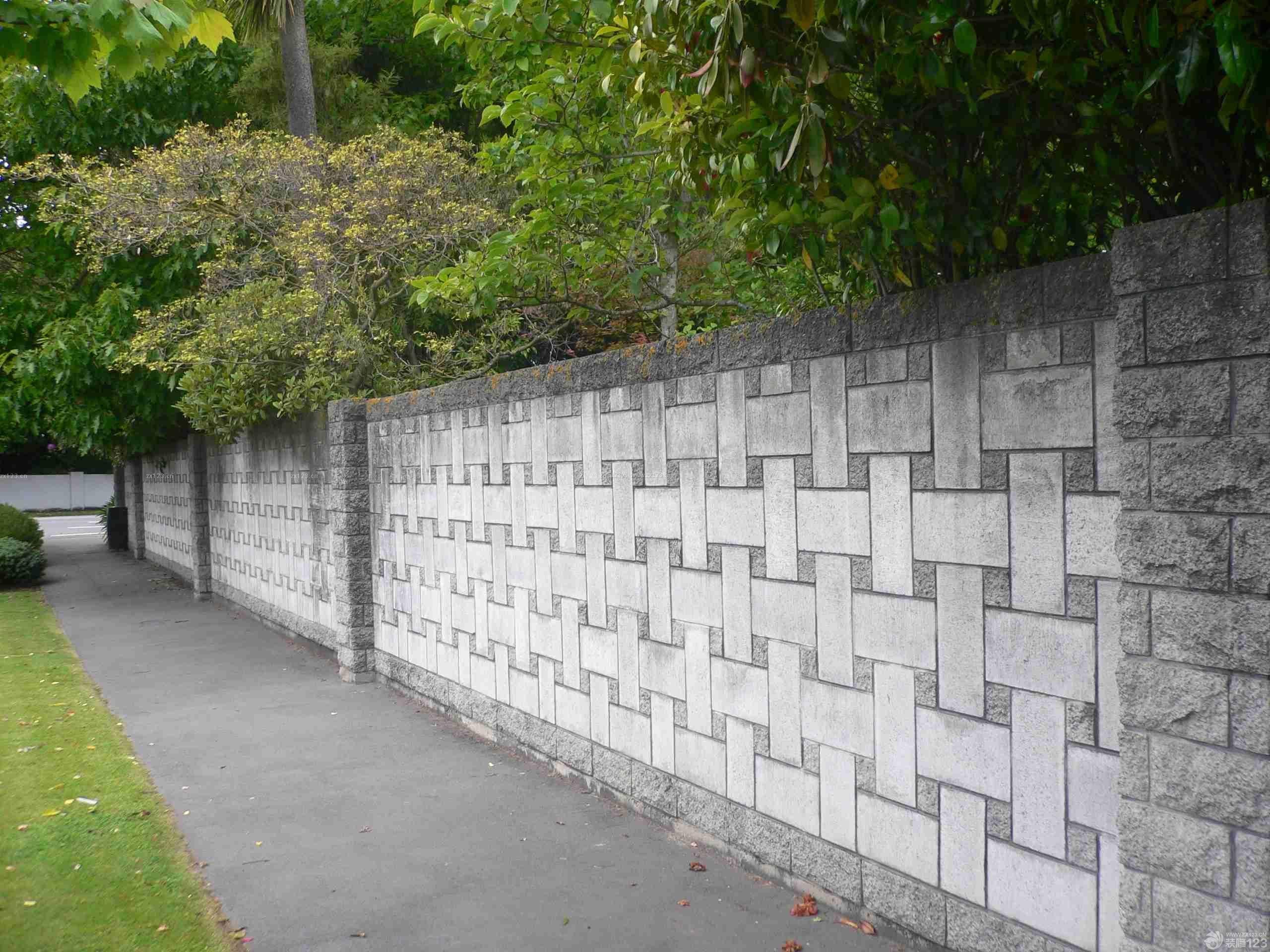 别墅围墙玄关雕刻