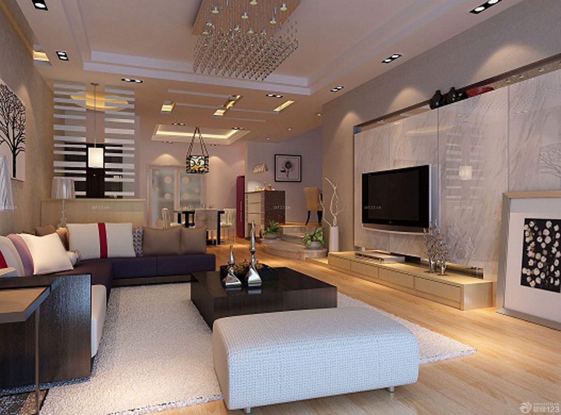 家装客厅瓷砖电视背景墙设计图片