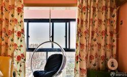 女生臥室秋千椅裝修效果圖片