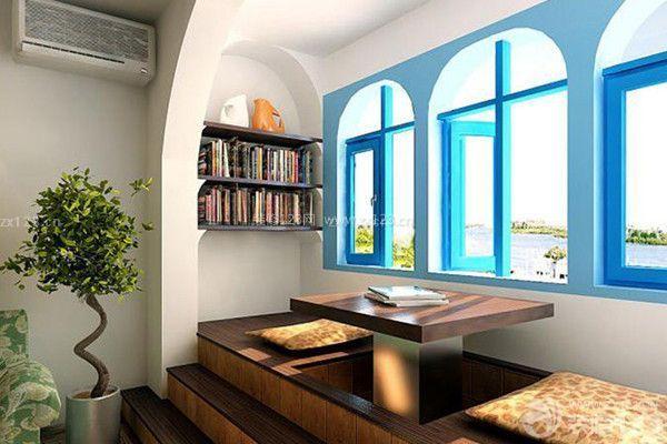打造特色阳台书柜 阳台空间功能的多样化