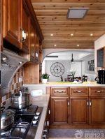 美式新古典风格橱柜带吧台设计图