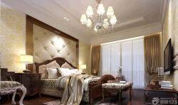 歐式主臥室古典床設計圖