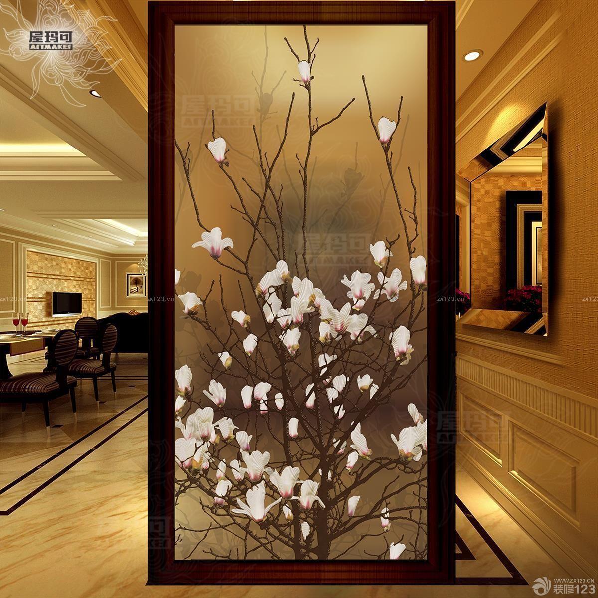 艺术玻璃屏风隔断设计图