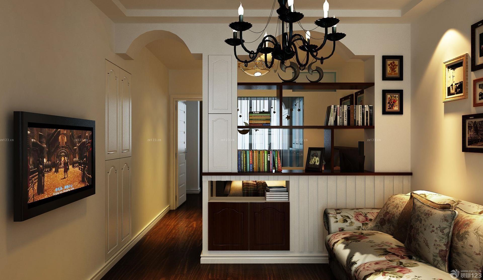 60平米一室一厅美式家装图片_装修123效果图图片