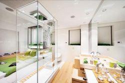 洗手間藝術玻璃隔斷設計圖