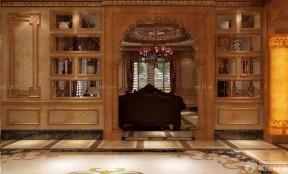欧式家居装修样板房博古架设计图图片