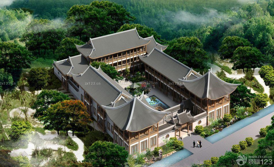 四合院别墅设计图 中国古典风格