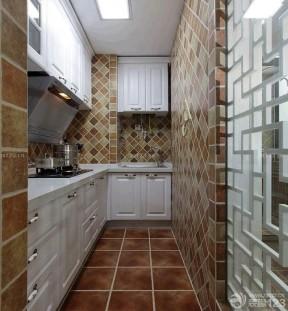 小戶型陽臺改廚房 棕色地磚