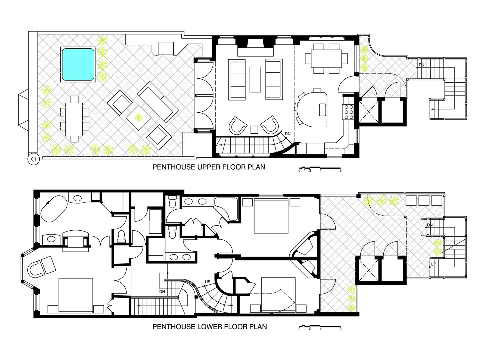 140平米房间设计平面图