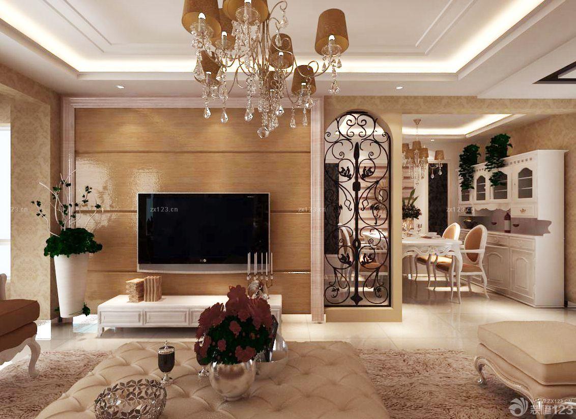 户型:两室两厅 房间:餐厅 风格:欧式风格 装修类型:家装 装修方式:半