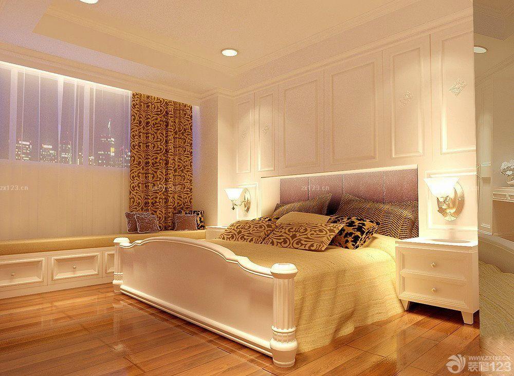50平米房子浅褐色木地板装修效果图