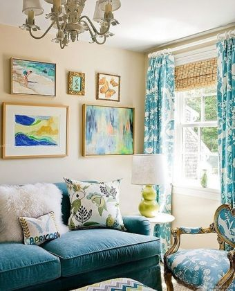 房屋客厅魔块背景墙装修效果图