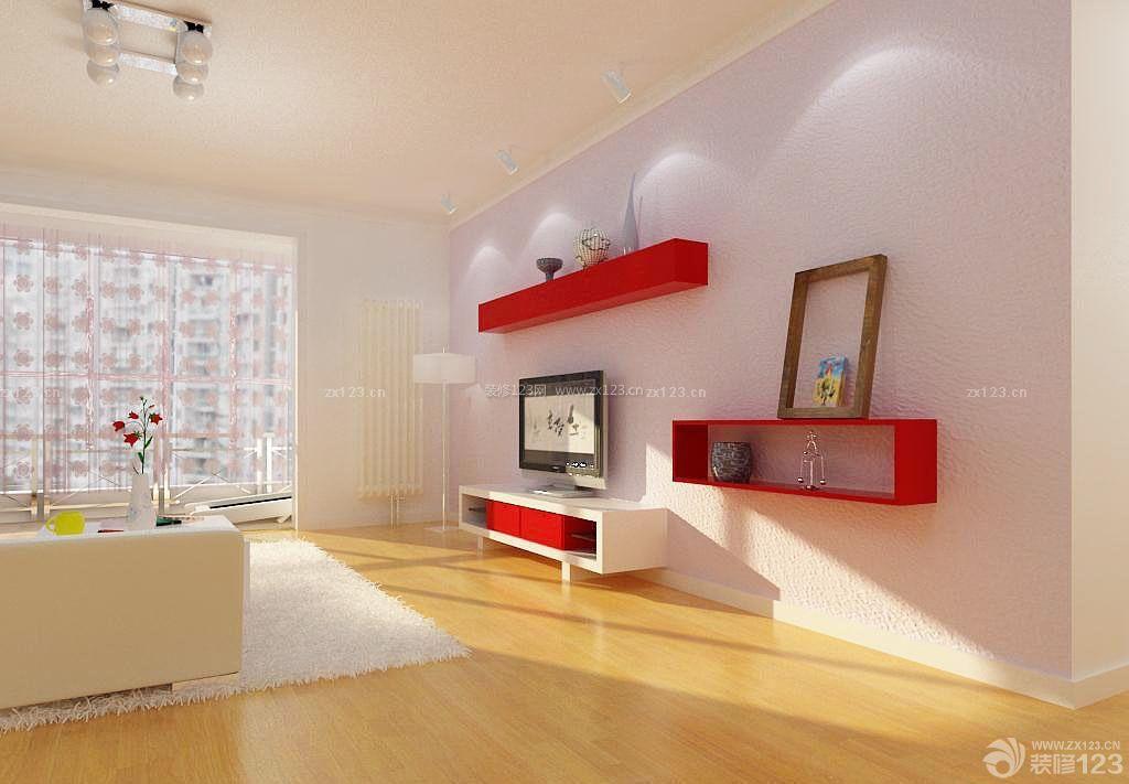 小户型新房仿木地板地砖装修效果图