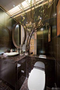 新中式风格小户型卫生间瓷砖配色装修效果图